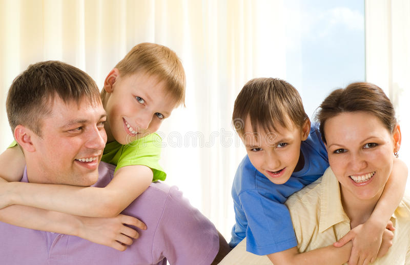 Download Parents with children stock photo. Image of father, couple - 14512072
