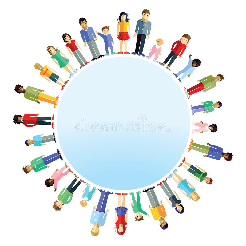 Parents and children from around the world vector illustration
