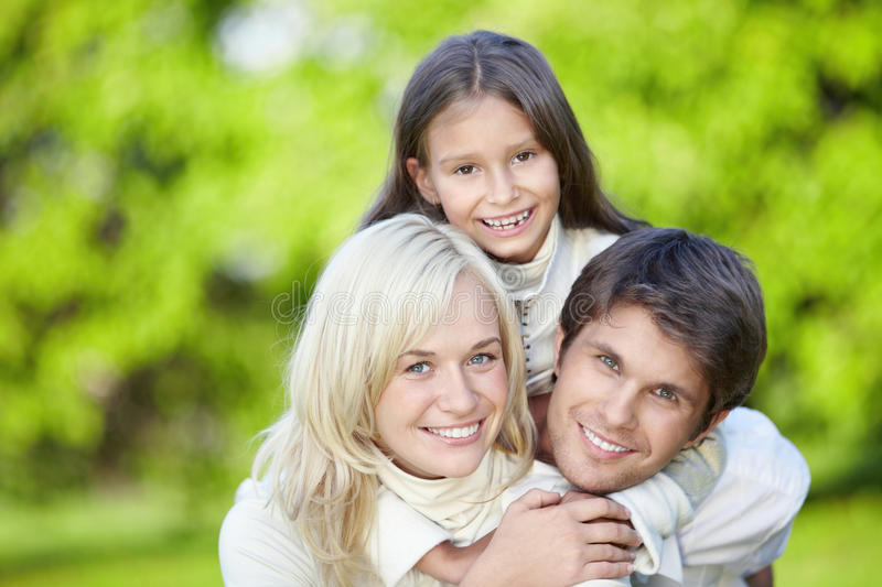 Parents with a daughter royalty free stock photography