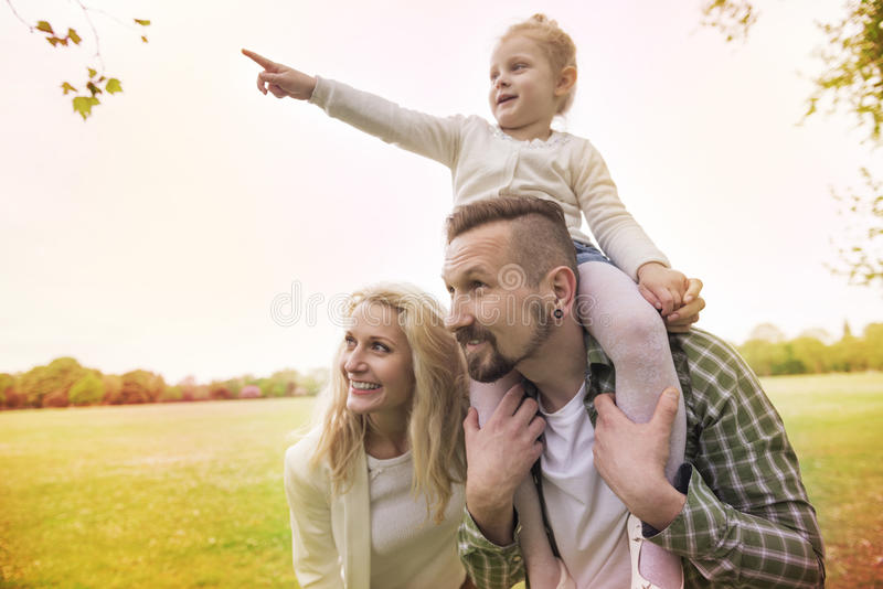 Parents with daughter stock photo