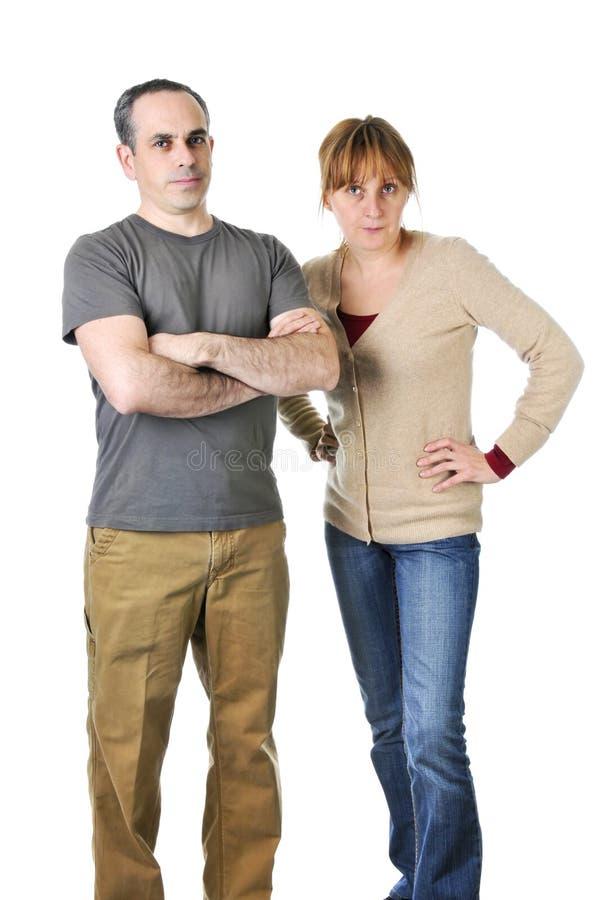 parents de regard fâchés sévères photo stock