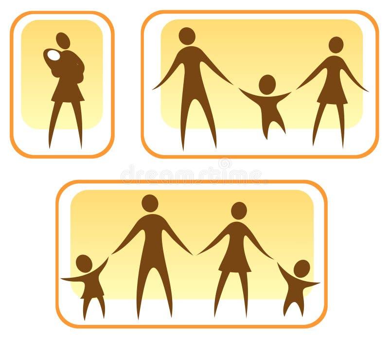 Parents et enfants illustration de vecteur