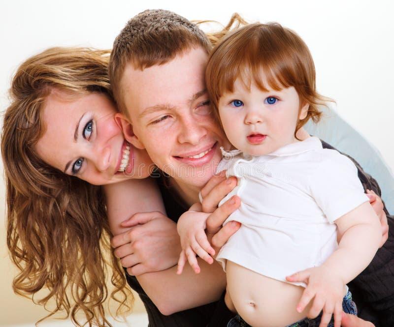 Parents et leur chéri images libres de droits