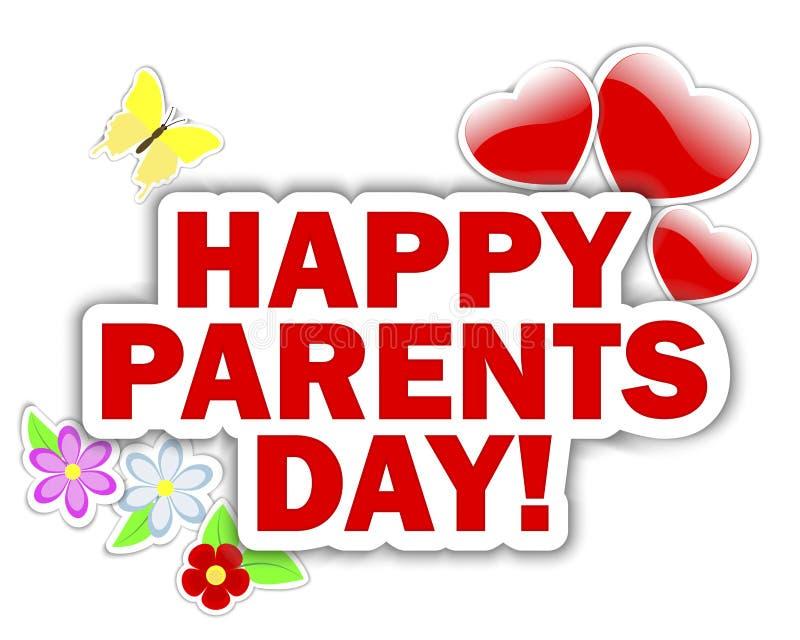 Parents gli autoadesivi di giorno. royalty illustrazione gratis