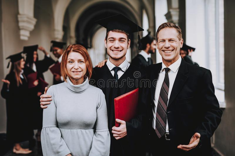 Parents. Graduates. Happy. Good Mood. Have Fun. royalty free stock photography