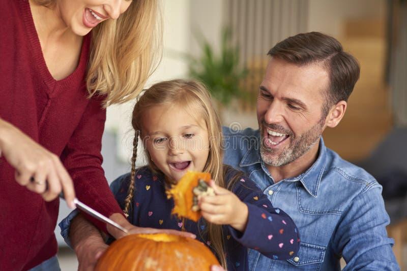 Carving pumpkins stock photos