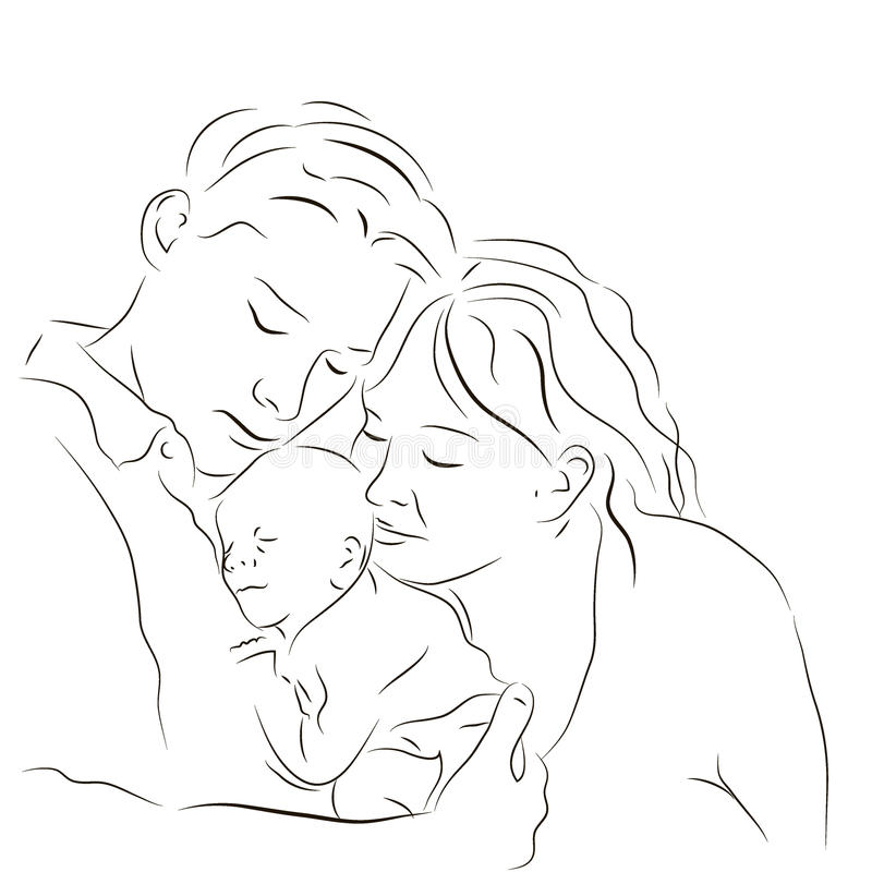 Parents With A Newborn Stock Images