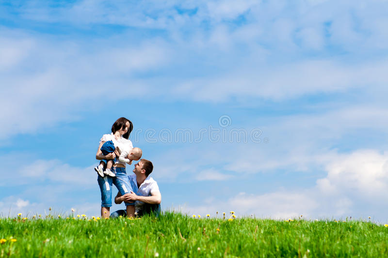 Parents playing with offspring stock photos