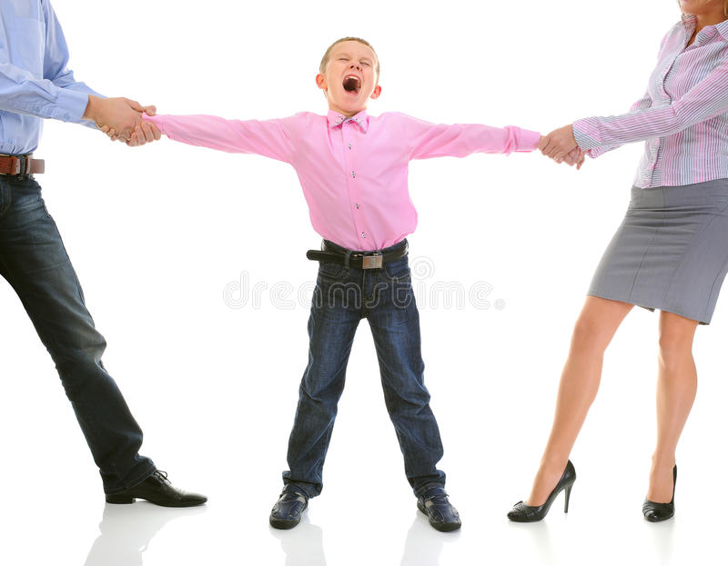 Download Parents share child. stock photo. Image of pain, background - 22262484