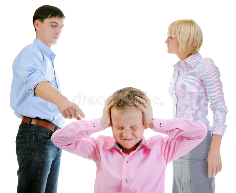 Download Parents share child. stock image. Image of angry, pull - 22263543