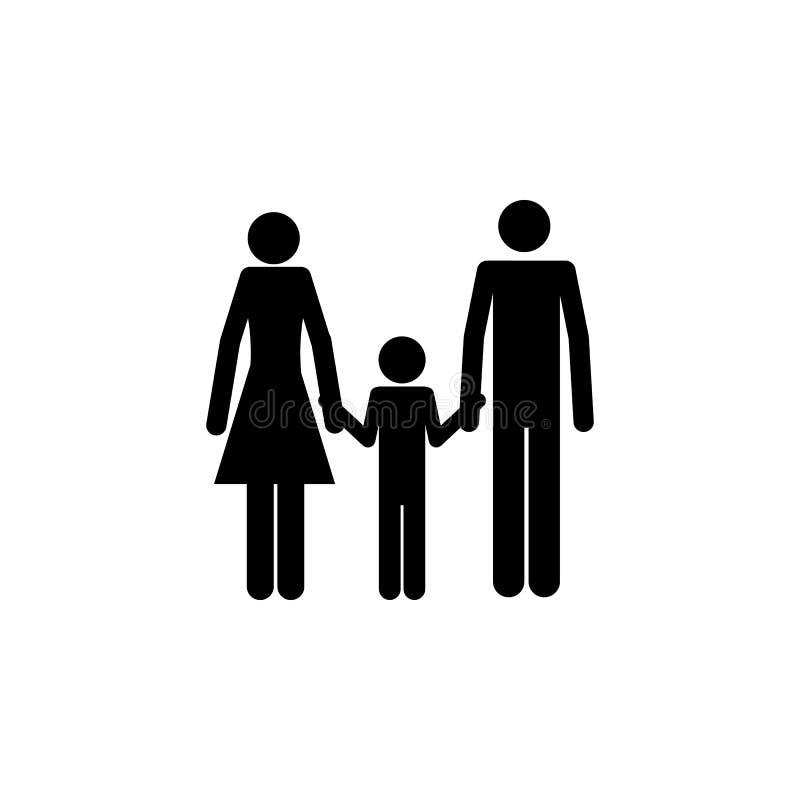 parents tenant l'icône de la main d'un enfant Élément d'une icône heureuse de famille Icône de la meilleure qualité de conception illustration de vecteur