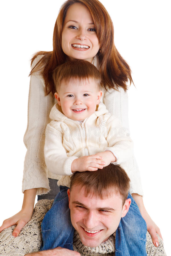 Parents and their son royalty free stock images