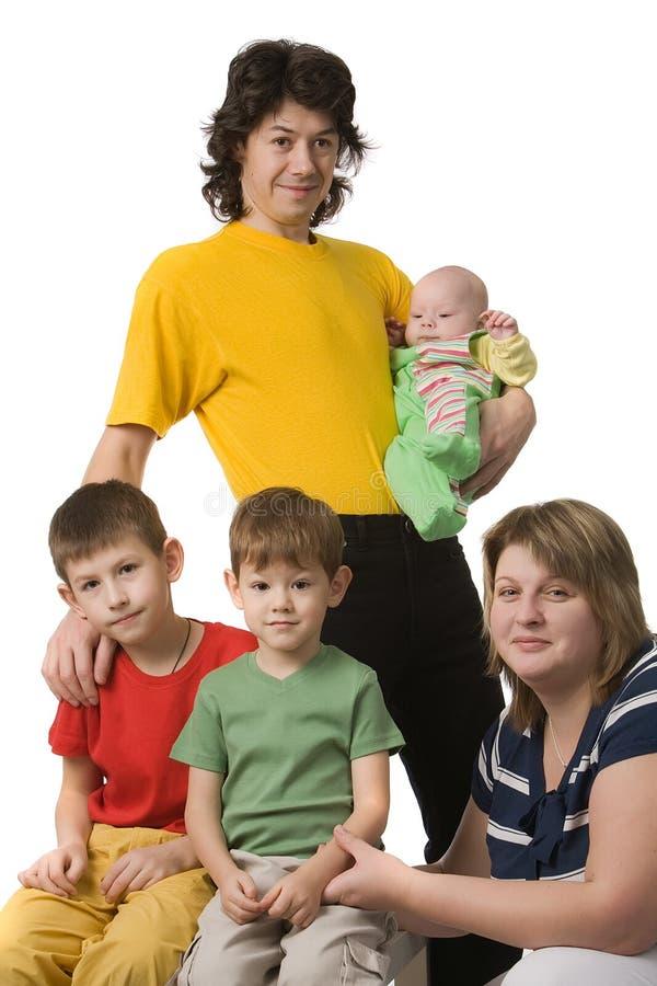 parents trois d'enfants photo stock