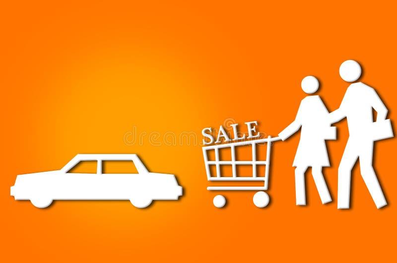 Pares abstratos da compra da venda ilustração stock