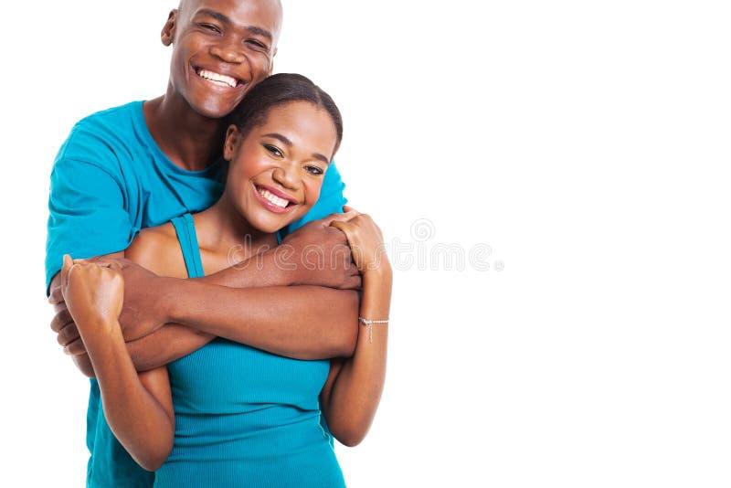 Pares africanos felizes fotos de stock