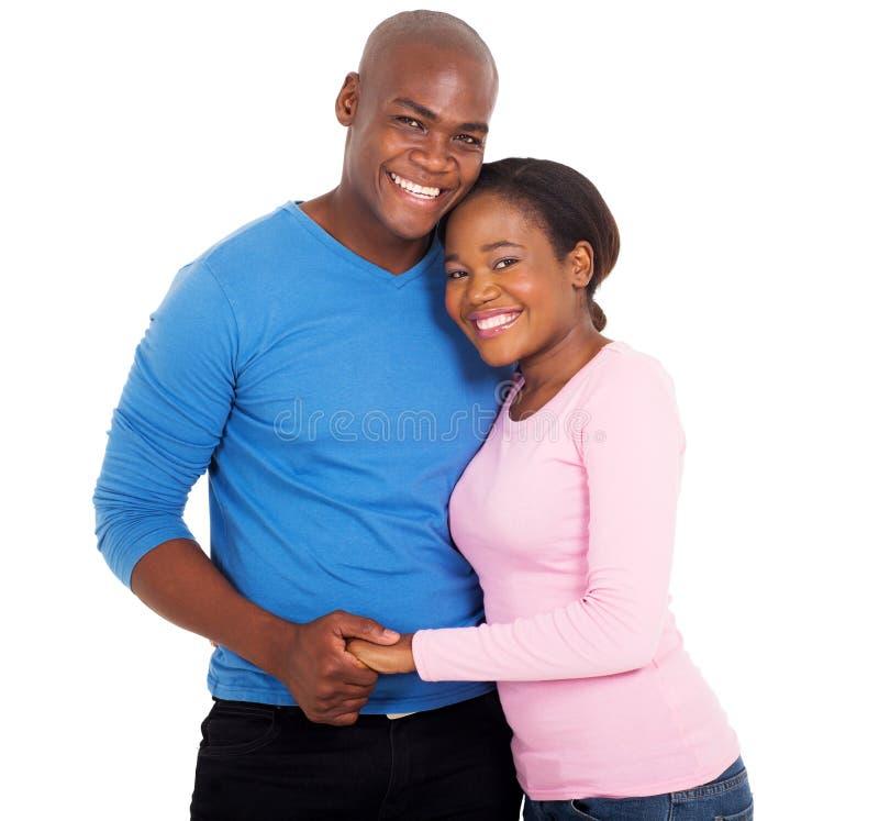 Pares africanos felizes imagem de stock royalty free