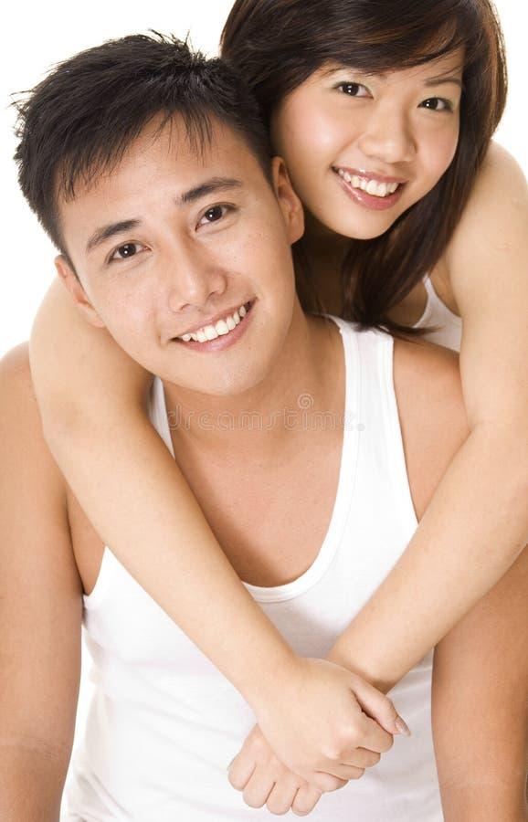 Pares asiáticos 3 fotografia de stock royalty free