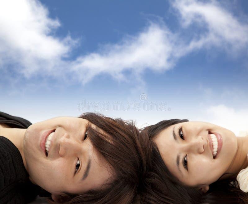 Pares asiáticos felices imagen de archivo libre de regalías
