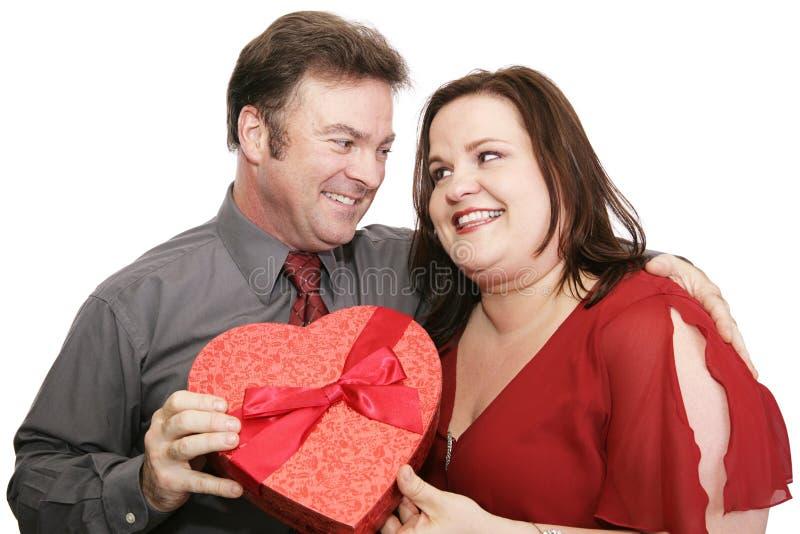 Pares bonitos do Valentim fotos de stock
