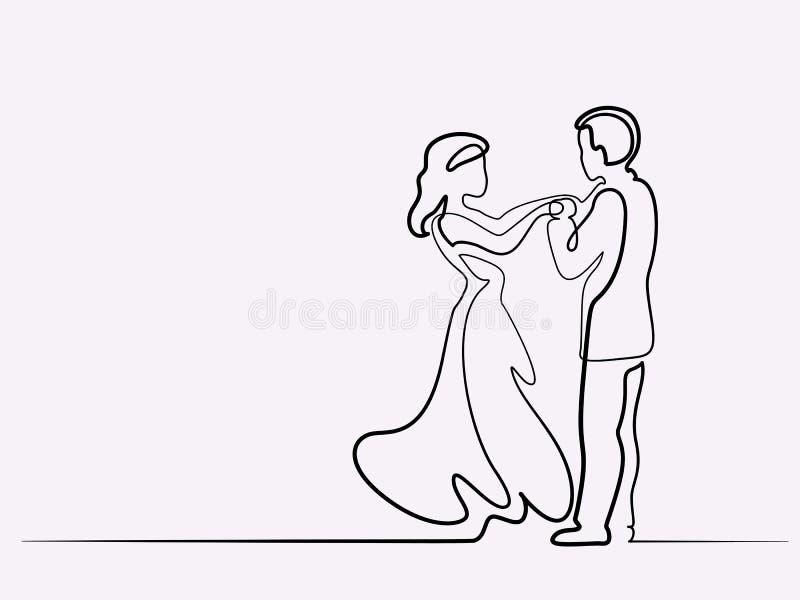 Pares cariñosos en el fondo blanco libre illustration