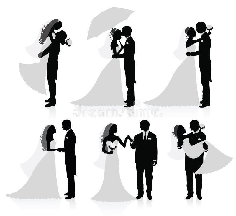 Pares casados. ilustración del vector