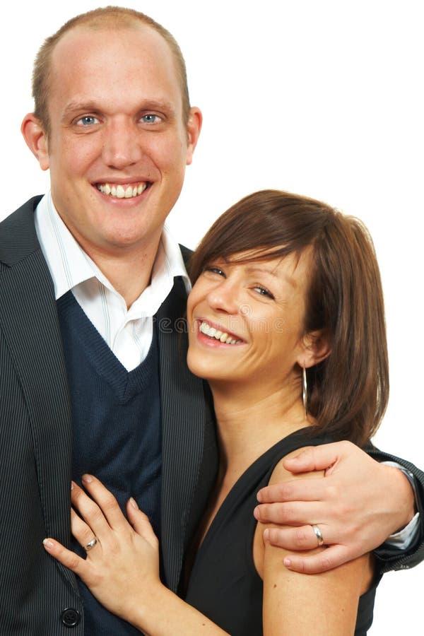 Pares casados jovenes foto de archivo libre de regalías