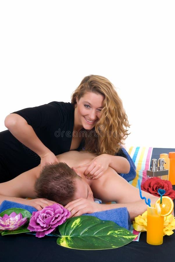 Pares, centro del balneario, masaje fotografía de archivo libre de regalías