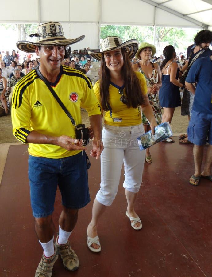 Pares colombianos imagen de archivo