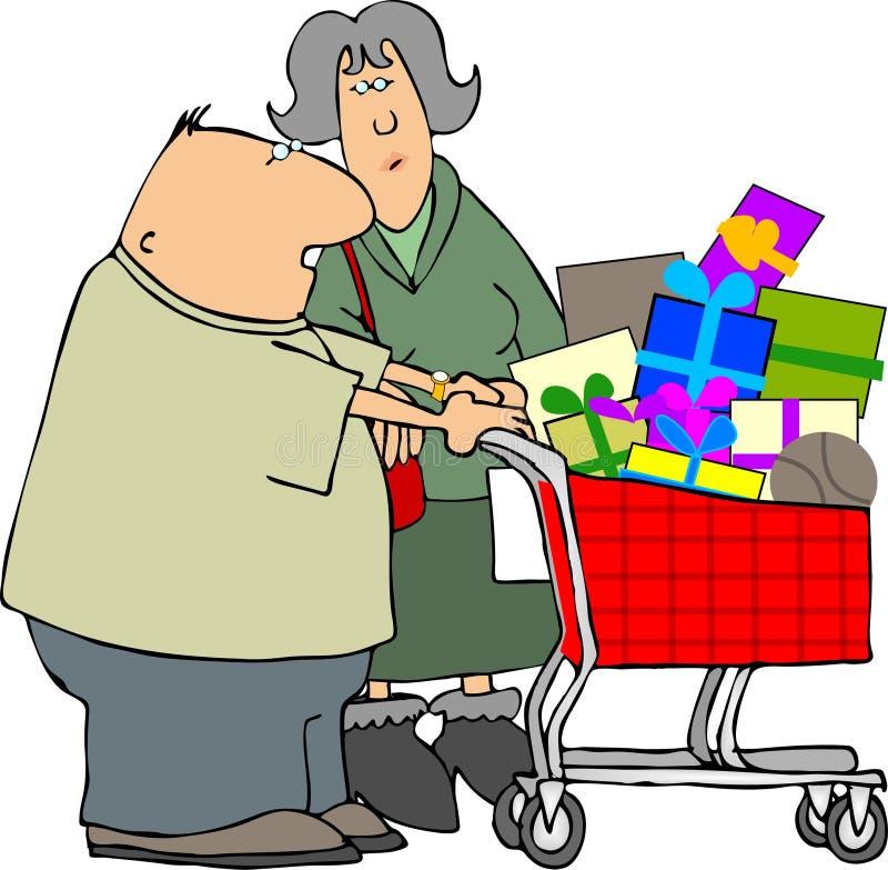 Pares da compra ilustração stock
