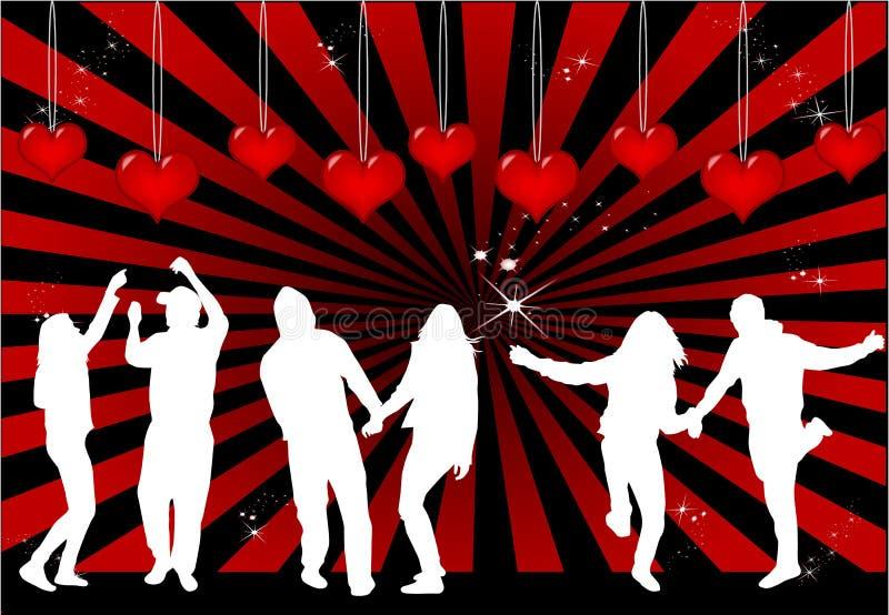 Pares da dança ilustração do vetor