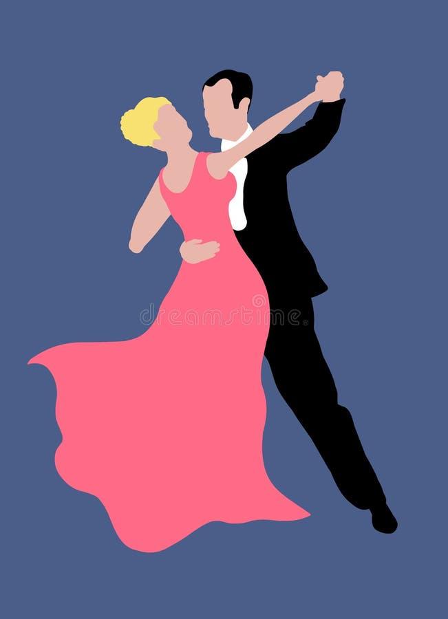 Pares da dança ilustração royalty free