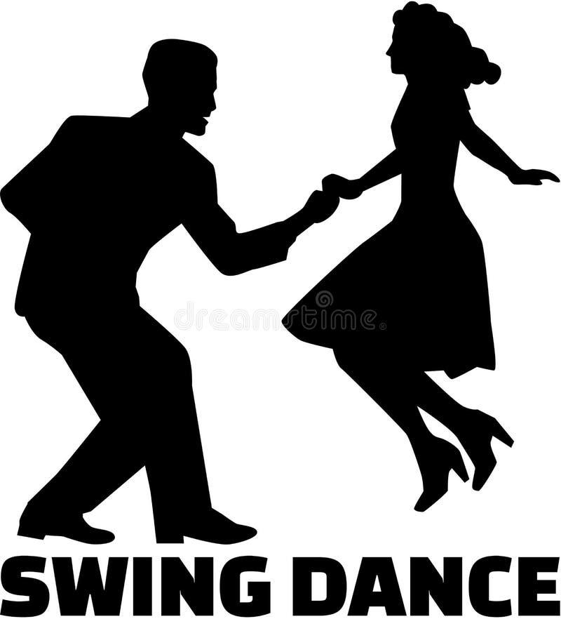 Pares da dança do balanço ilustração royalty free