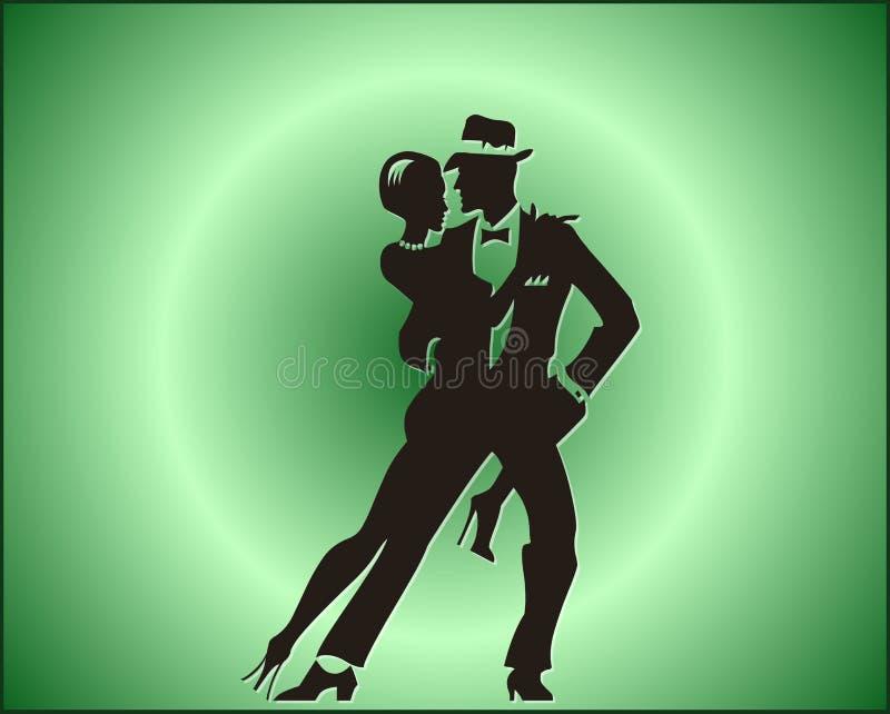 Pares da dança do tango ilustração royalty free
