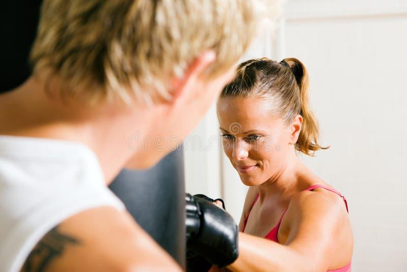 Pares das artes marciais imagem de stock