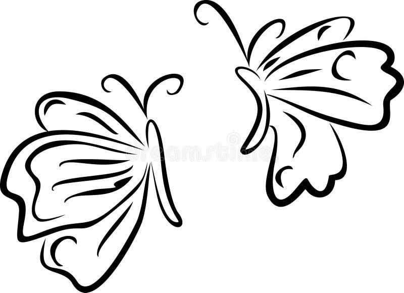 Pares das borboletas ilustração do vetor