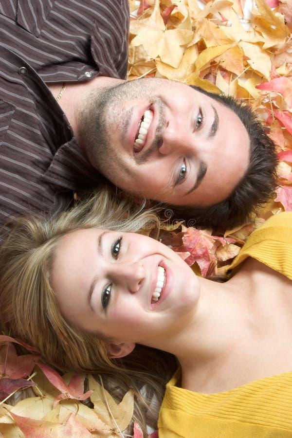 Pares das folhas de outono imagem de stock royalty free