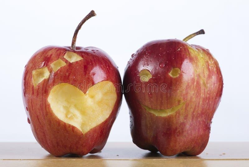 Pares de Apple rojo fotografía de archivo