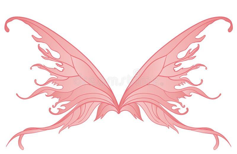 Pares de asas feericamente cor-de-rosa ilustração royalty free