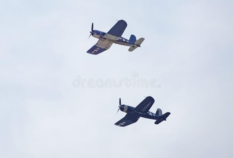 Pares de aviones de combate del corsario imagen de archivo libre de regalías