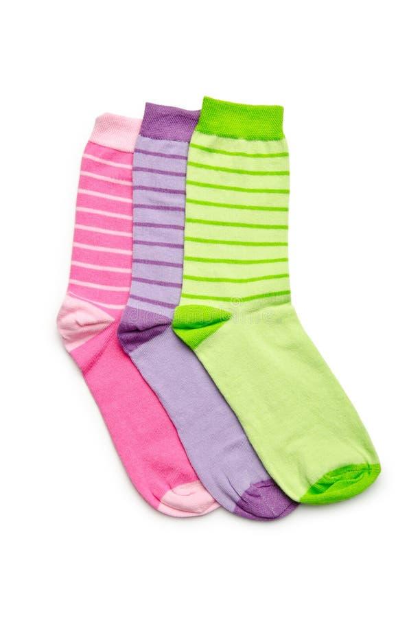 Pares de calcetines en blanco fotografía de archivo