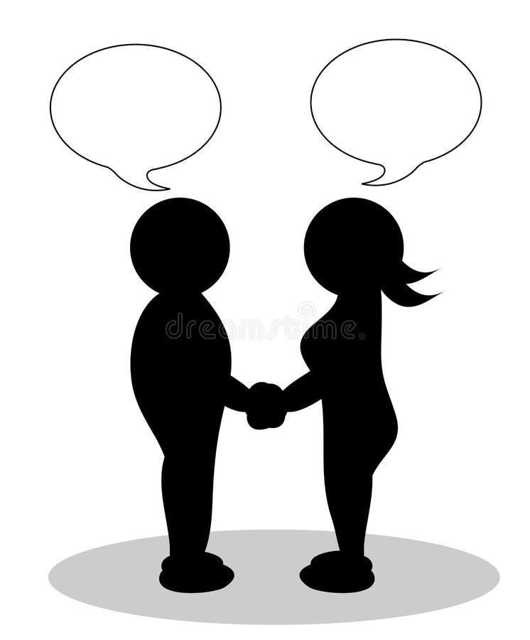 Pares de Clipart - hombre y mujer ilustración del vector