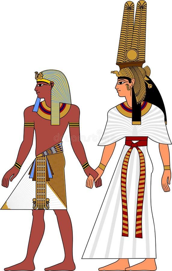 Pares de Egipto ilustración del vector