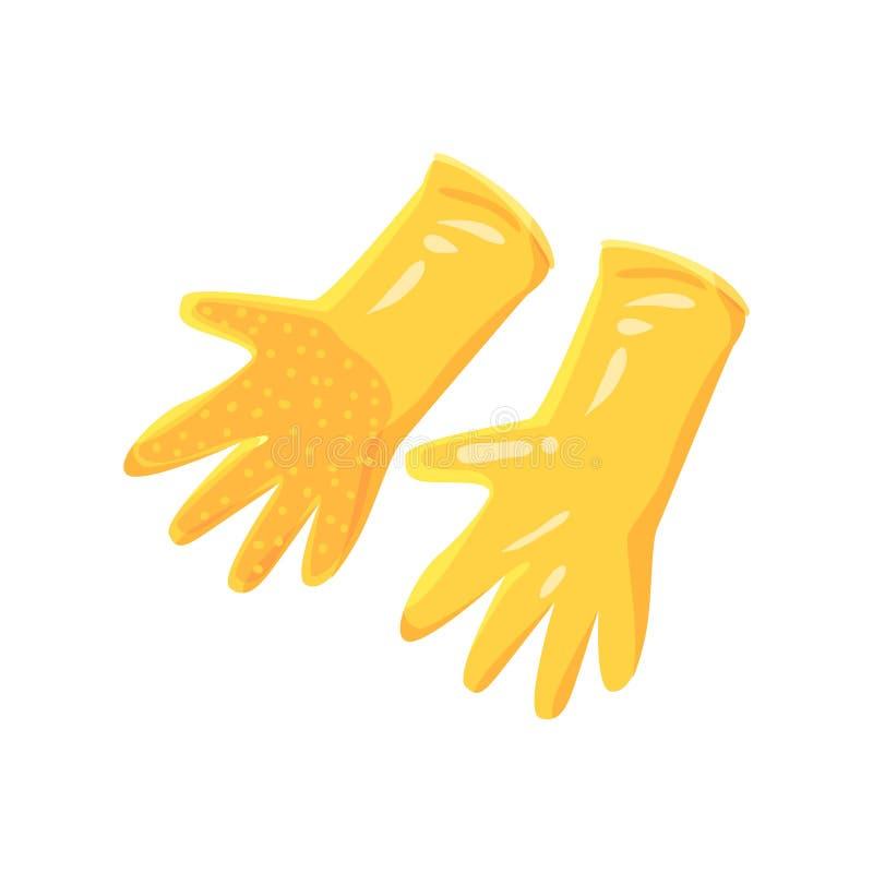 Pares de ejemplo de goma del vector de la historieta de los guantes del jardín anaranjado libre illustration