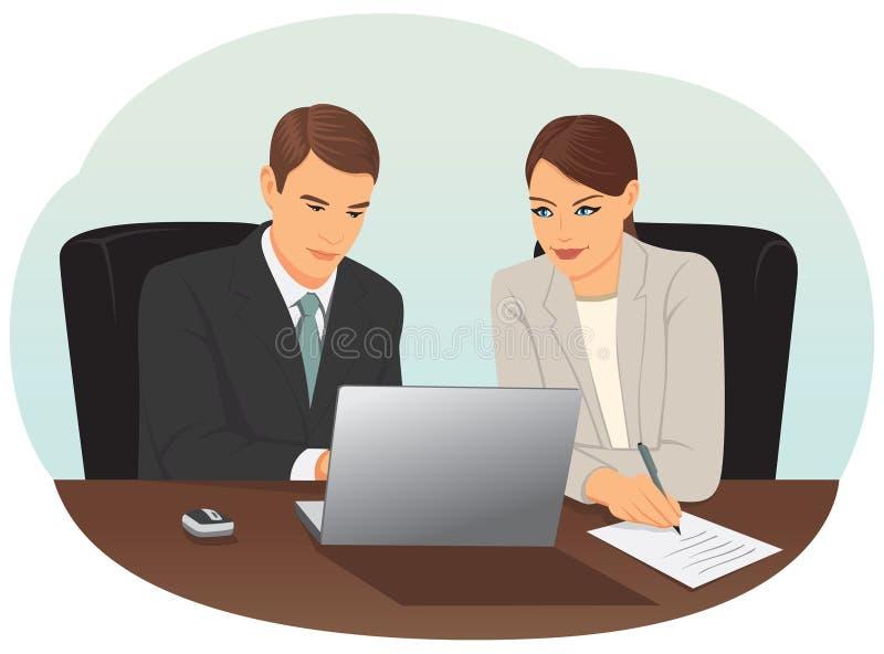 Pares de empresários ilustração stock