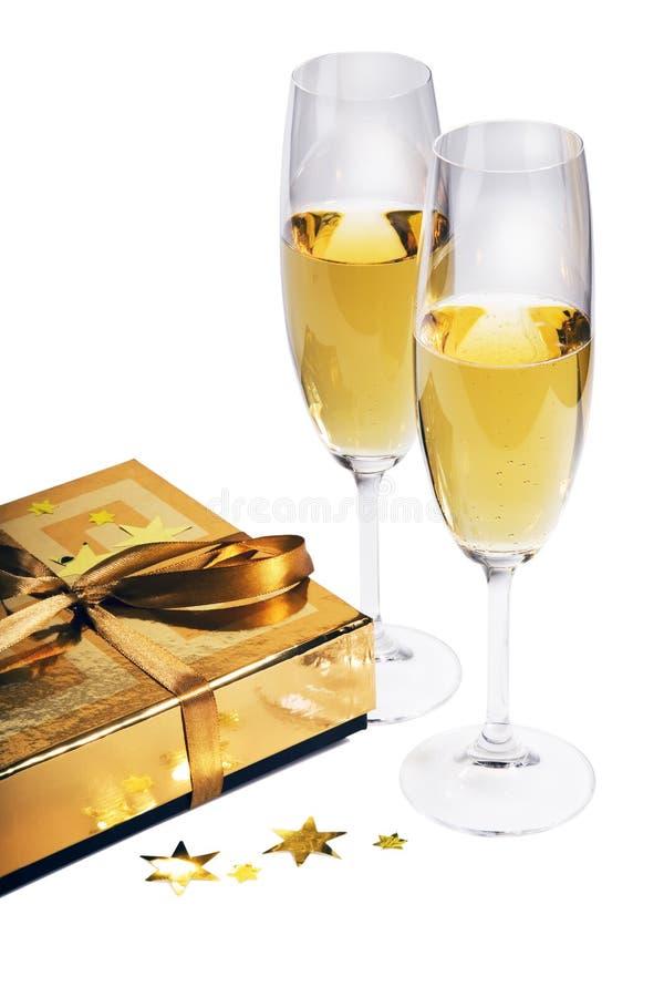 Pares de flautas de champán imagen de archivo