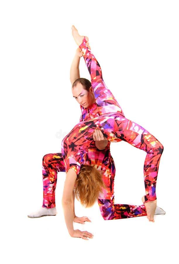 Pares de gimnastas foto de archivo libre de regalías
