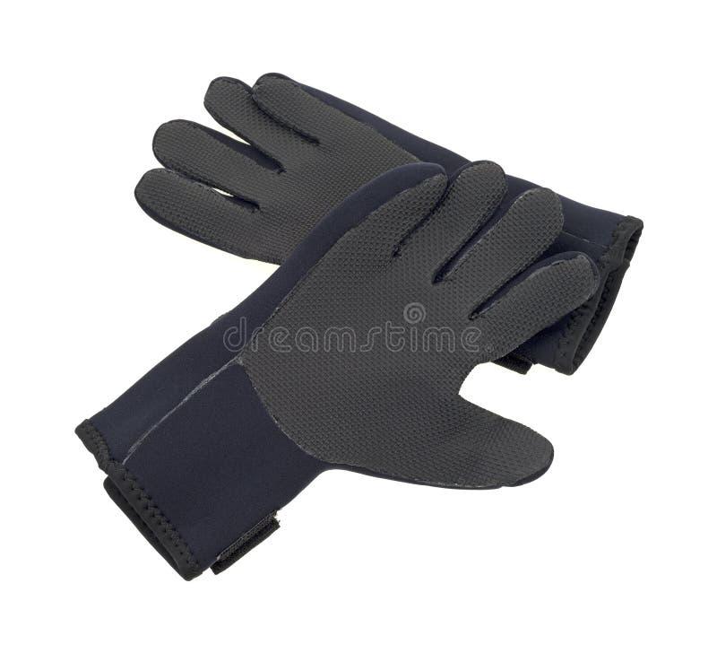 Pares de guantes del neopreno imagen de archivo