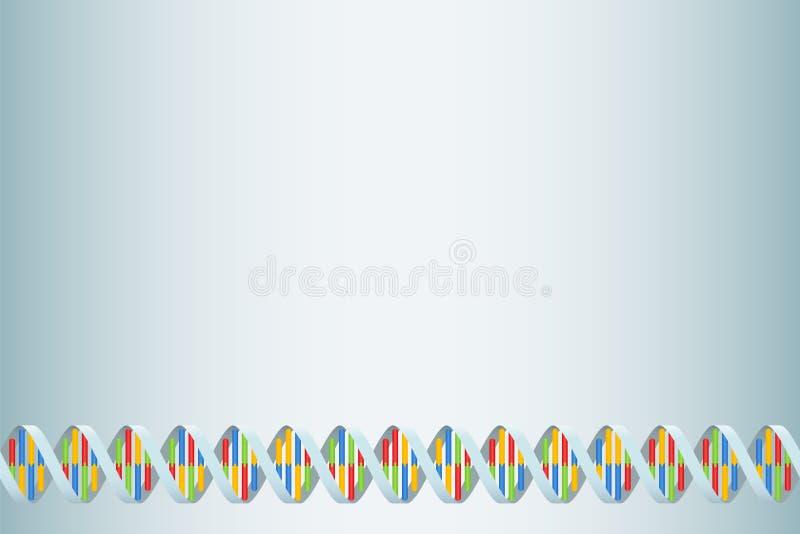 Pares de la base del doble hélice del filamento de la DNA stock de ilustración