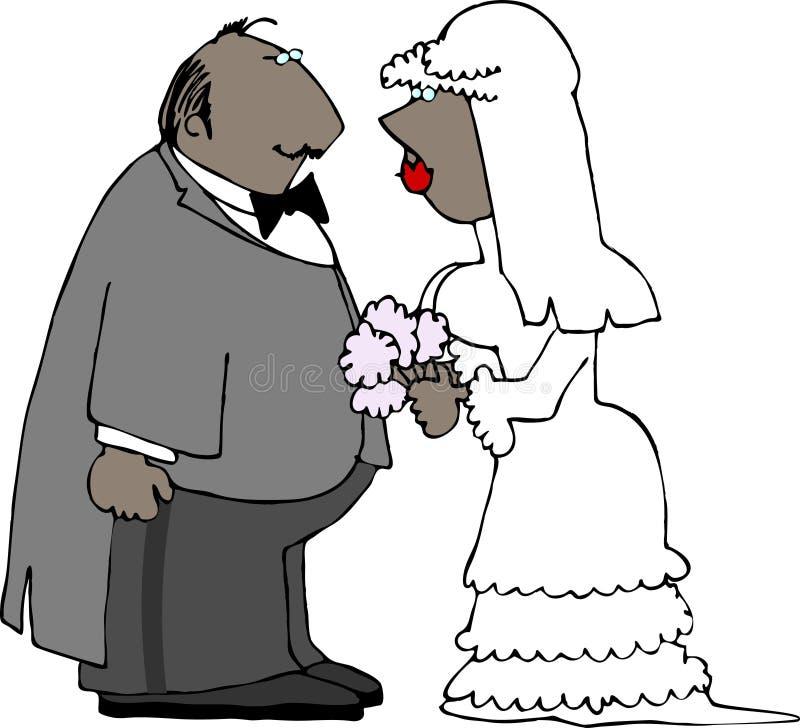Pares de la boda stock de ilustración