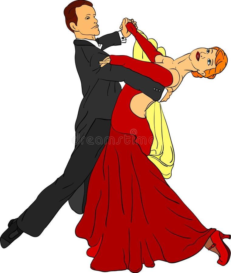 Pares de la danza ilustración del vector